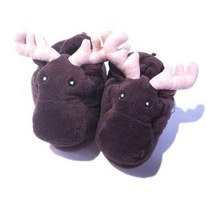 9-10 Moose Slippers Toddler Animal Slippers